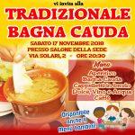 Tradizionale Bagna Cauda a San Paolo il prossimo sabato 17 novembre 2018