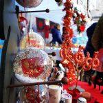 La bancarella con gli oggetti del Rione nella casa di Babbo Natale al Palazzo Ottolenghi