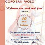 Piccolo concerto del coro San Paolo – domenica 21 dicembre 2019 ore 21:00
