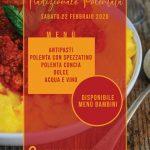 """""""Tradizionale Polentata di San Paolo"""" in data Sabato 22 Febbraio 2020"""